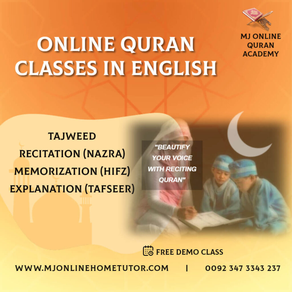 ONLINE QURAN ACADEMY IN ENGLISH The Quran Courses Academy has professional teachers who can communicate in Urdu and English fluently,