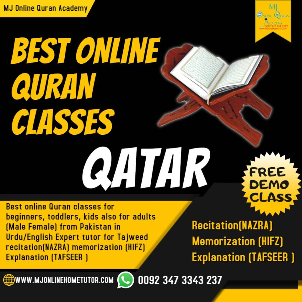 Online Quran with expert tutors for kids and adults who want to learn Quran online with tajweed in QATAR, Quran Memorization, & Quran translation with Tafseer