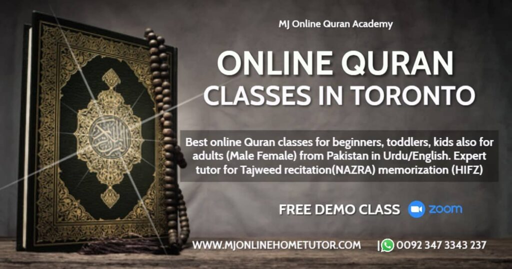 THE BEST ONLINE QURAN ACADEMY Learn Quran Online with Tajweed Ottawa, Toronto GTA, Montreal, Hamilton, Kitchener-Waterloo, Kingston, Winnipeg, Halifax, Windsor, London, Edmonton, Online Quran Classes in Toronto for Kids & Adults with Qualified & Expert Male & Female Teachers