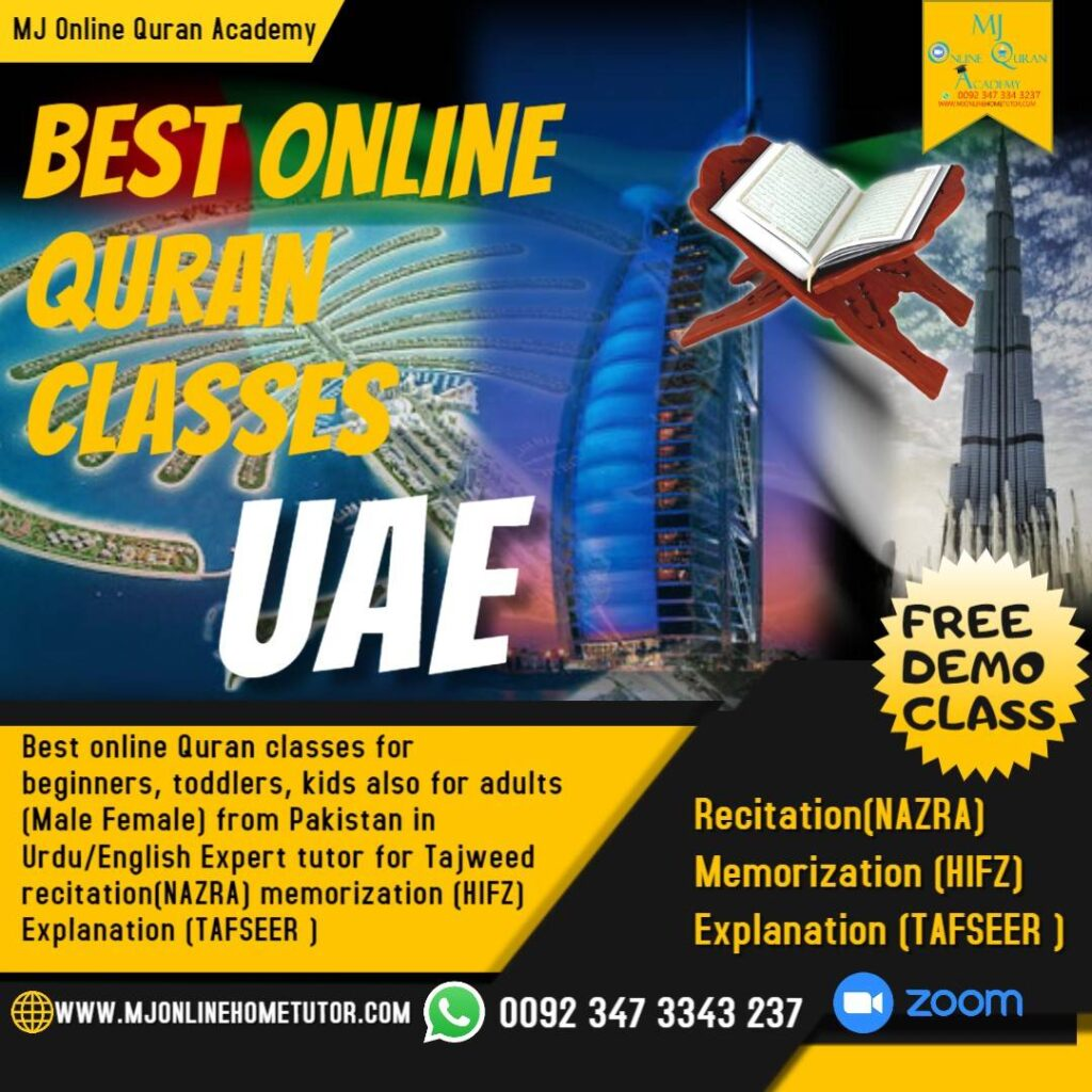 ONLINE HOLY QURAN TEACHING ACADEMY Online Quran Learning classes.Best online quran academy in Canada UK USA UAE where you can learn alot.No fee of trail classes neither need any credit MJ Online Quran Academy for kids, adults, & Females for the Muslims who lives in USA United States