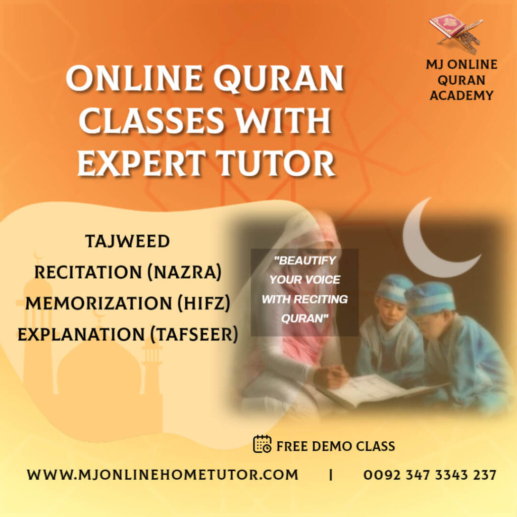 QURAN CLASSES WITH EXPERT TUTOR