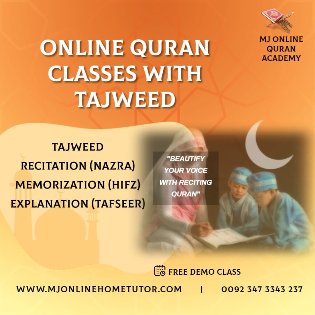 ONLINE HOLY QURAN TEACHING ACADEMY teaching Quran Pak with Tajweed Recitation(Nazra) Memorization (Hifz) Explanation(Tafseer).